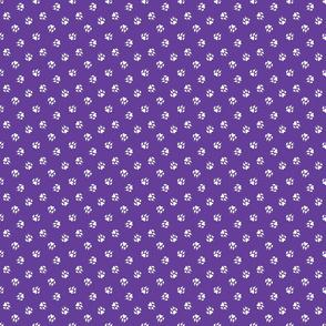 Trotting paw prints coordinate - winners purple