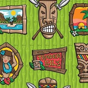 Kitsch Tiki - Framed! - Green