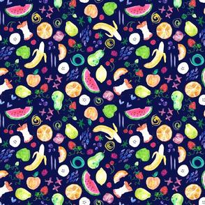 Painted Fruit Doodles