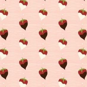Delicious strawberries, cream and chocolate!