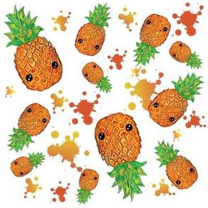 Hawaiian Hospitality watercolor pineapple