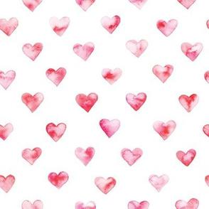 watercolor heart pattern