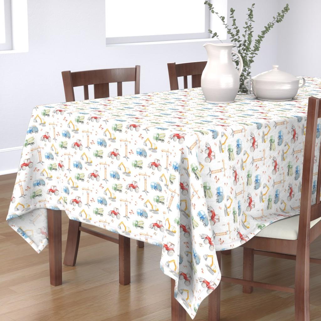 Bantam Rectangular Tablecloth featuring construction watercolor by artn'lera