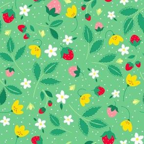 Strawberry Floral Garden
