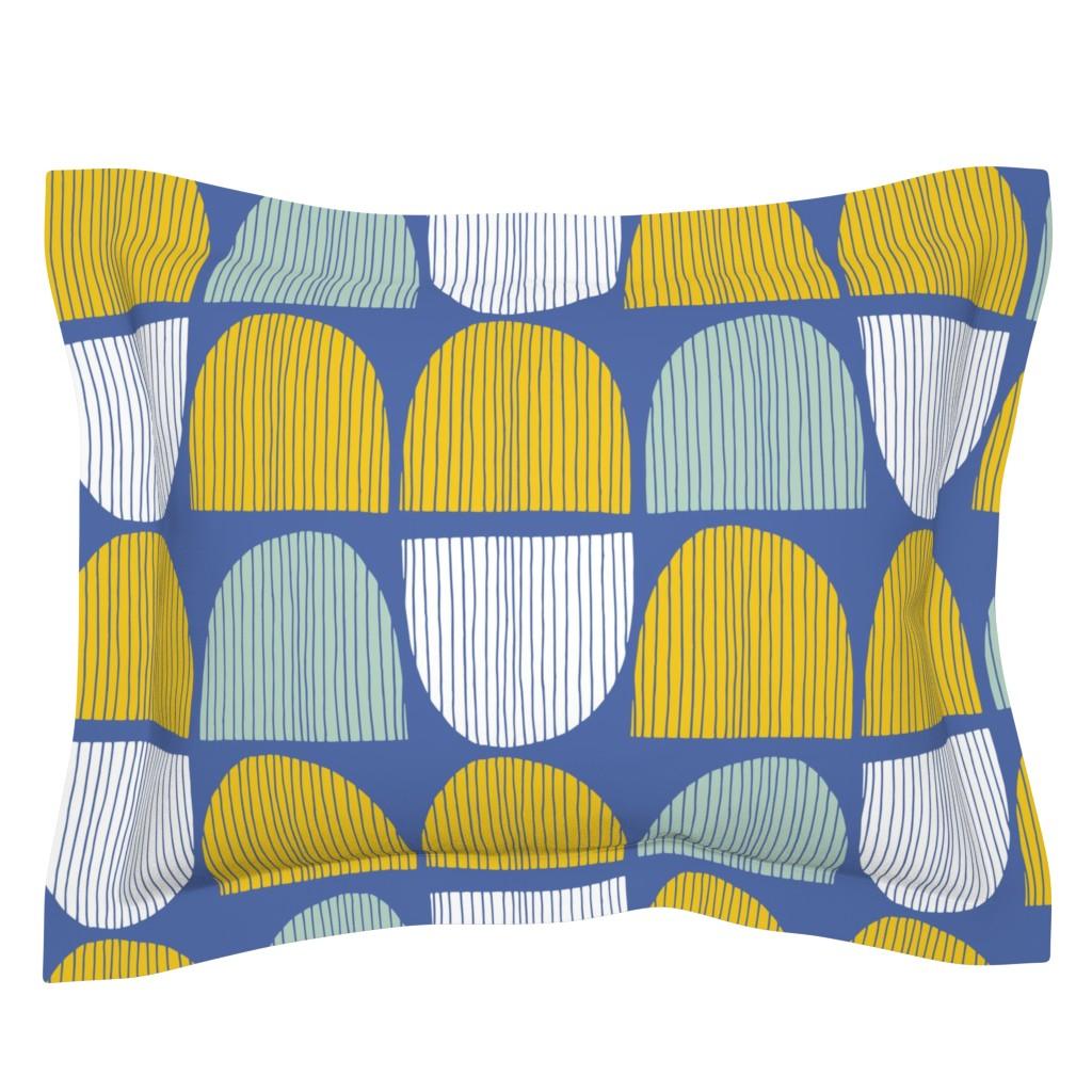 Sebright Pillow Sham featuring Bird Life hills by zoe_ingram