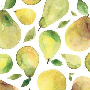 Watercolour Fruity Pears
