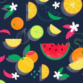 Juicy Summer Fruit Watercolor