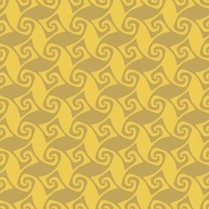 mini spiral trellis - wheat and gold