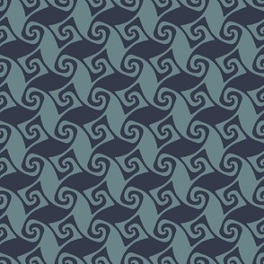 mini spiral trellis - slate and navy