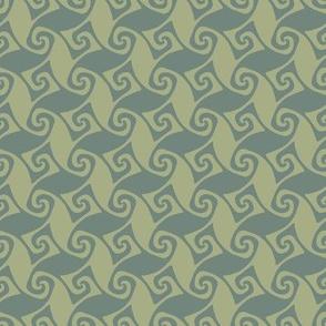 mini spiral trellis - sage and green slate