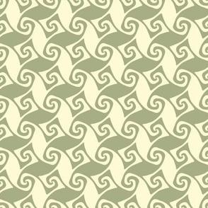 mini spiral trellis - sage and linen