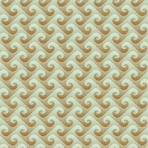 1:12 scale wave mosaic - antique blue