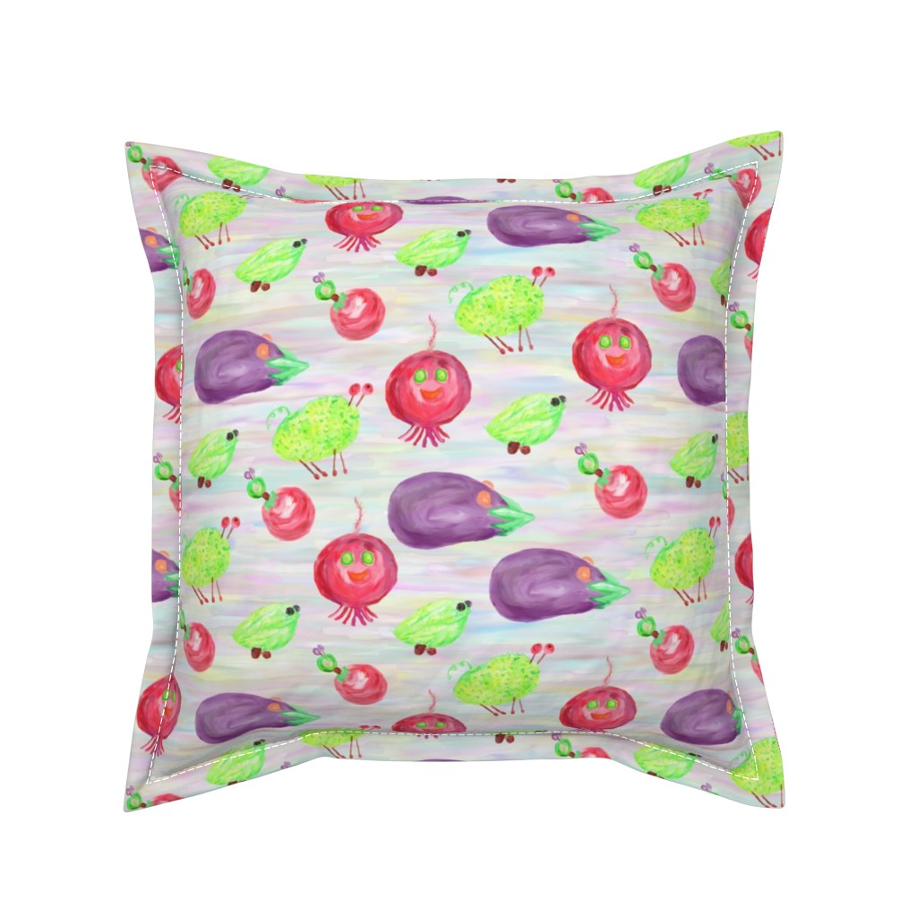 Serama Throw Pillow featuring Don't Pickle Me!  by rhondadesigns