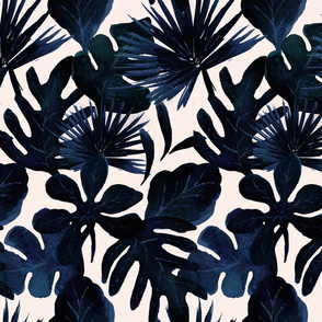 Tropical Leaves Midnight