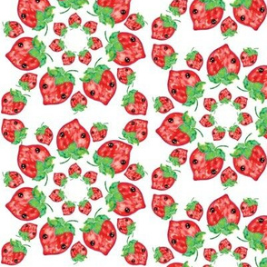 Kawaii Strawberry Mandala