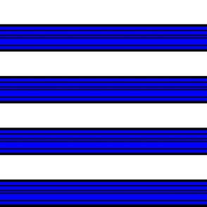 Blue and White Patriotic Stripes