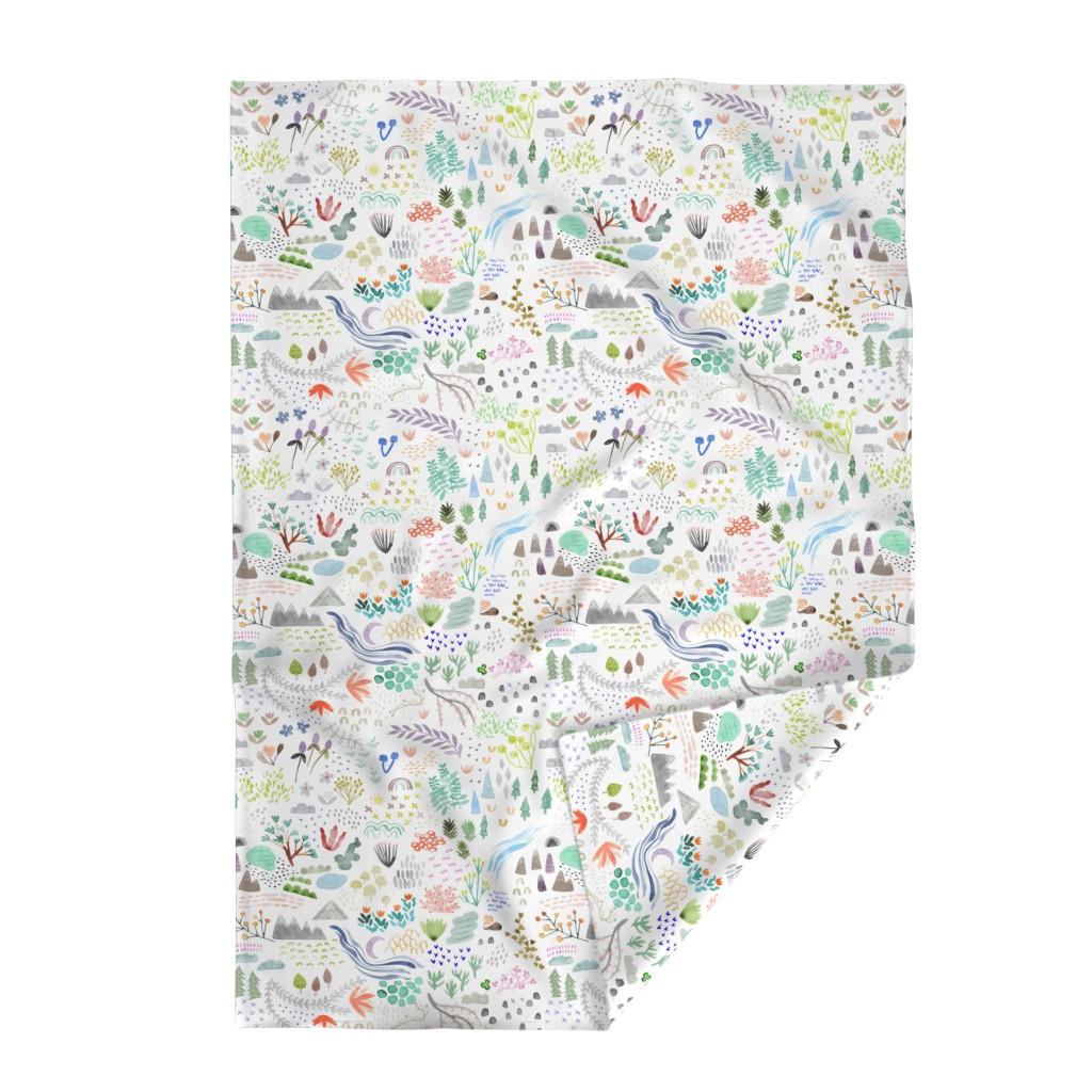 Lakenvelder Throw Blanket featuring Watercolor Field - big by katievernon