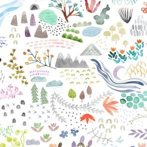 Watercolor Field - big