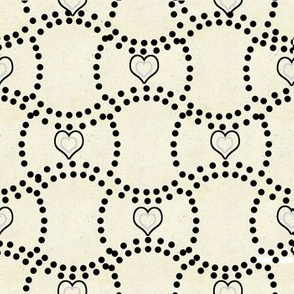 Dots of Circles with Hearts