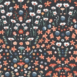 Ditsy floral rust