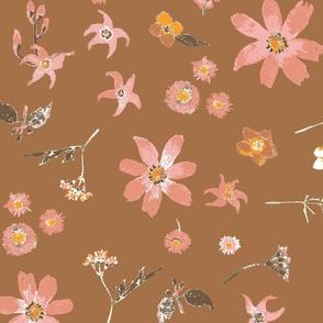Ornate botanical tile