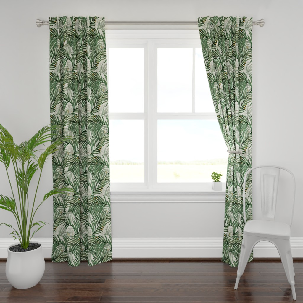 Plymouth Curtain Panel featuring Palm_Leaves__King_Pineapple_ by chicca_besso