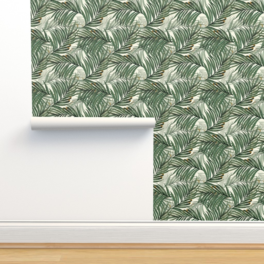 Isobar Durable Wallpaper featuring Palm_Leaves__King_Pineapple_ by chicca_besso