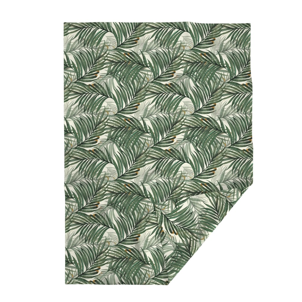 Lakenvelder Throw Blanket featuring Palm_Leaves__King_Pineapple_ by chicca_besso