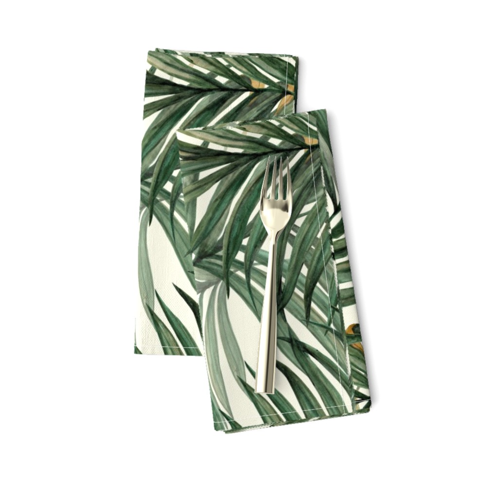 Amarela Dinner Napkins featuring Palm_Leaves__King_Pineapple_ by chicca_besso