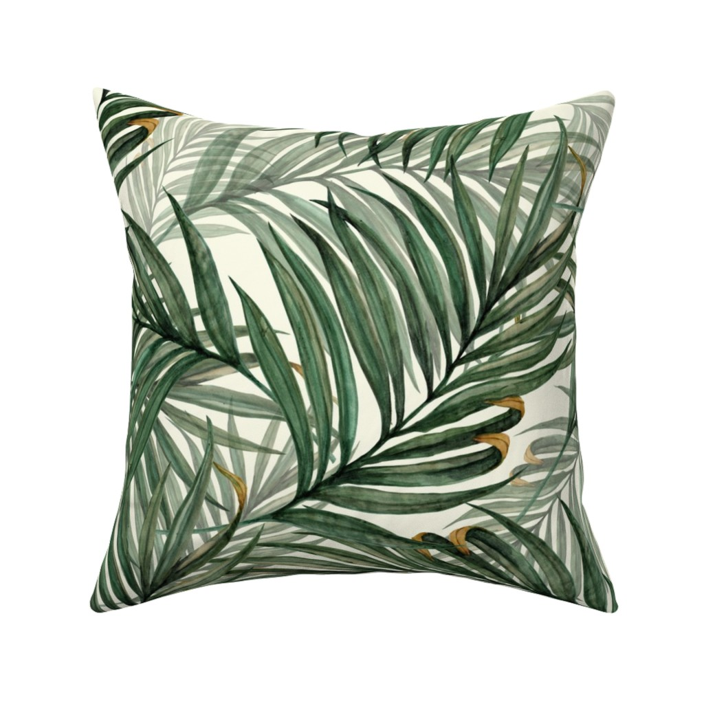 Catalan Throw Pillow featuring Palm_Leaves__King_Pineapple_ by chicca_besso