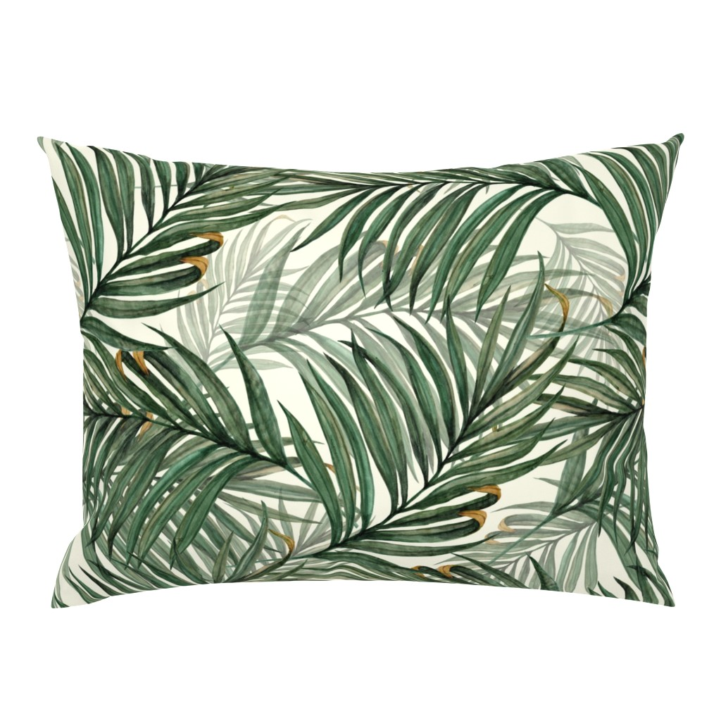 Campine Pillow Sham featuring Palm_Leaves__King_Pineapple_ by chicca_besso