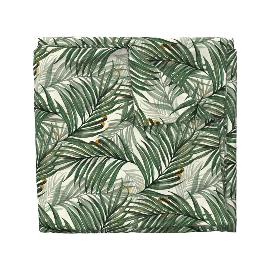 Wyandotte Duvet Cover featuring Palm_Leaves__King_Pineapple_ by chicca_besso