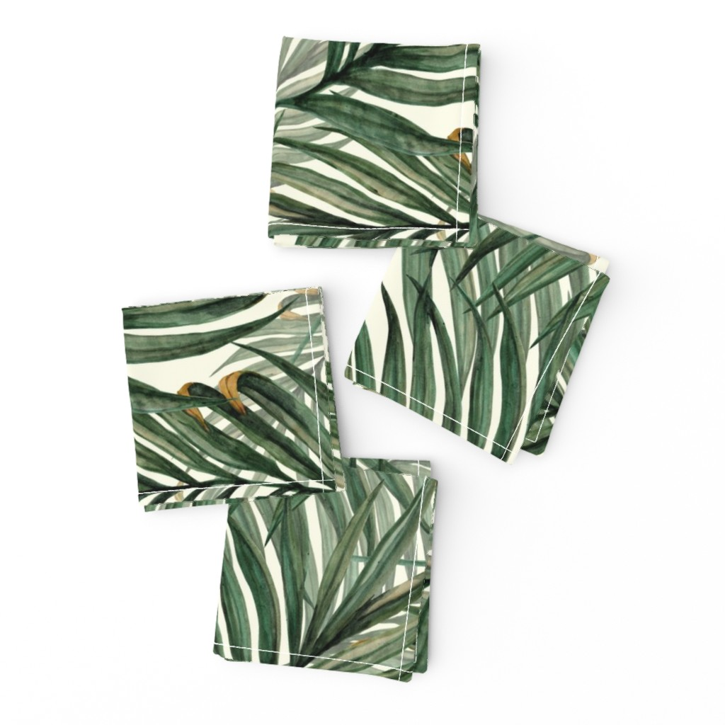 Frizzle Cocktail Napkins featuring Palm_Leaves__King_Pineapple_ by chicca_besso