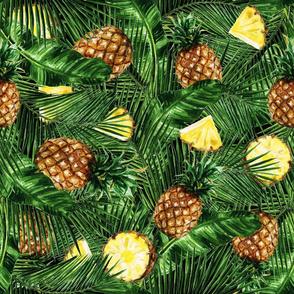 Tropical Pineapples Watercolor