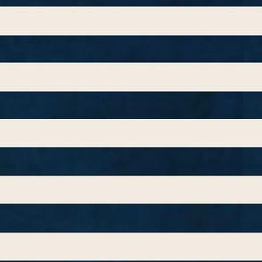stripes - wide navy cream horizontal