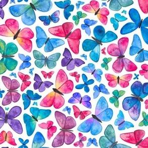 Watercolour Butterfly Pattern