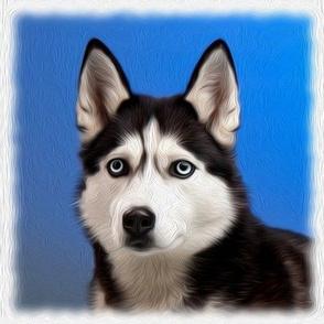 husky - painted