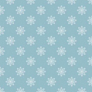 Ice Blue Chalk Snowflakes - Yuletide