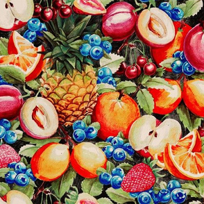 Watercolour Fruit Pattern