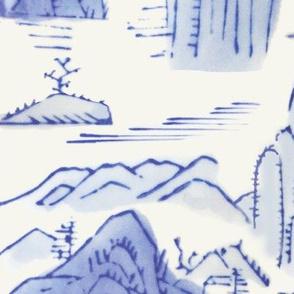 Blue Scenic Landscape