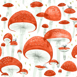 Mycelium Fruiting Bodies by Friztin