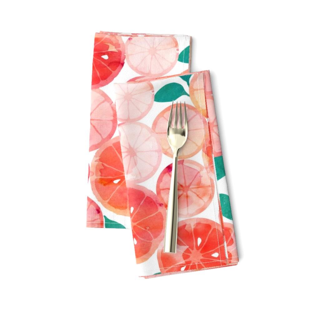 Amarela Dinner Napkins featuring Summer fruit by adenaj