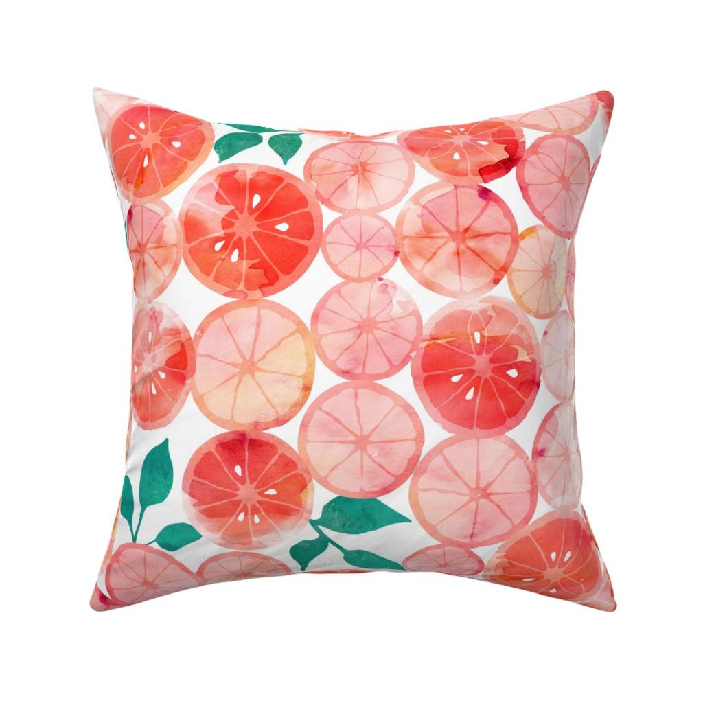 Catalan Throw Pillow featuring Summer fruit by adenaj