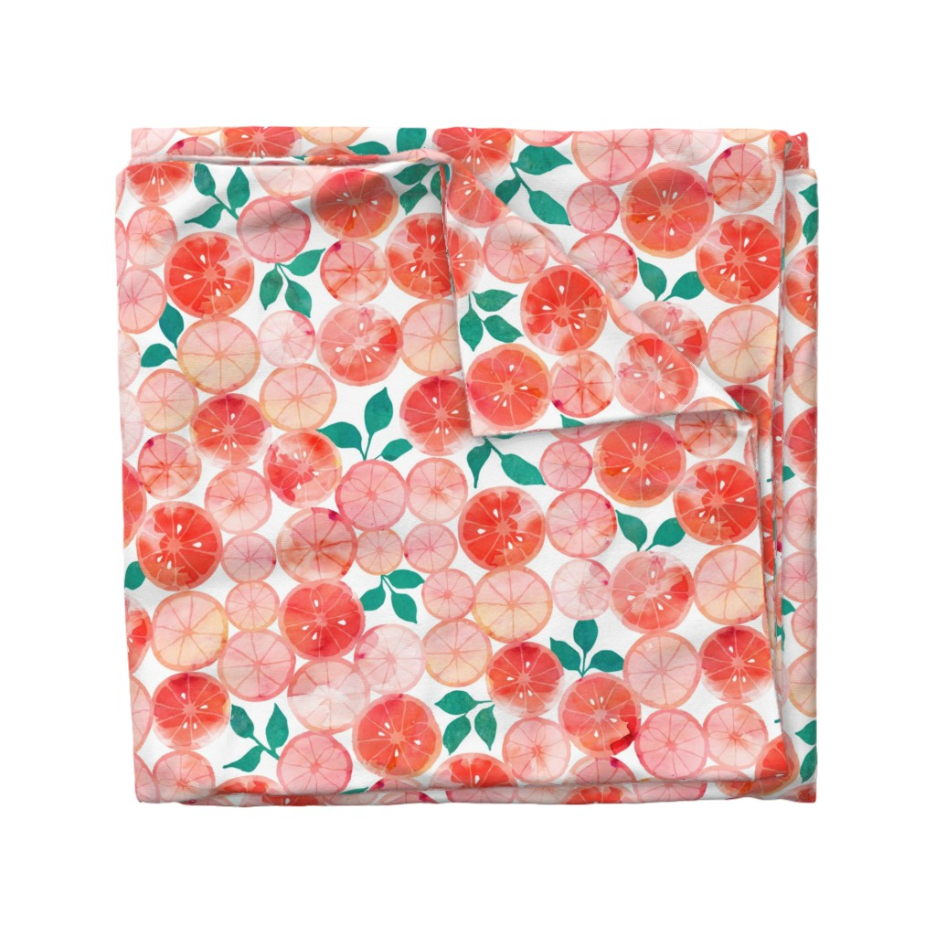 Wyandotte Duvet Cover featuring Summer fruit by adenaj
