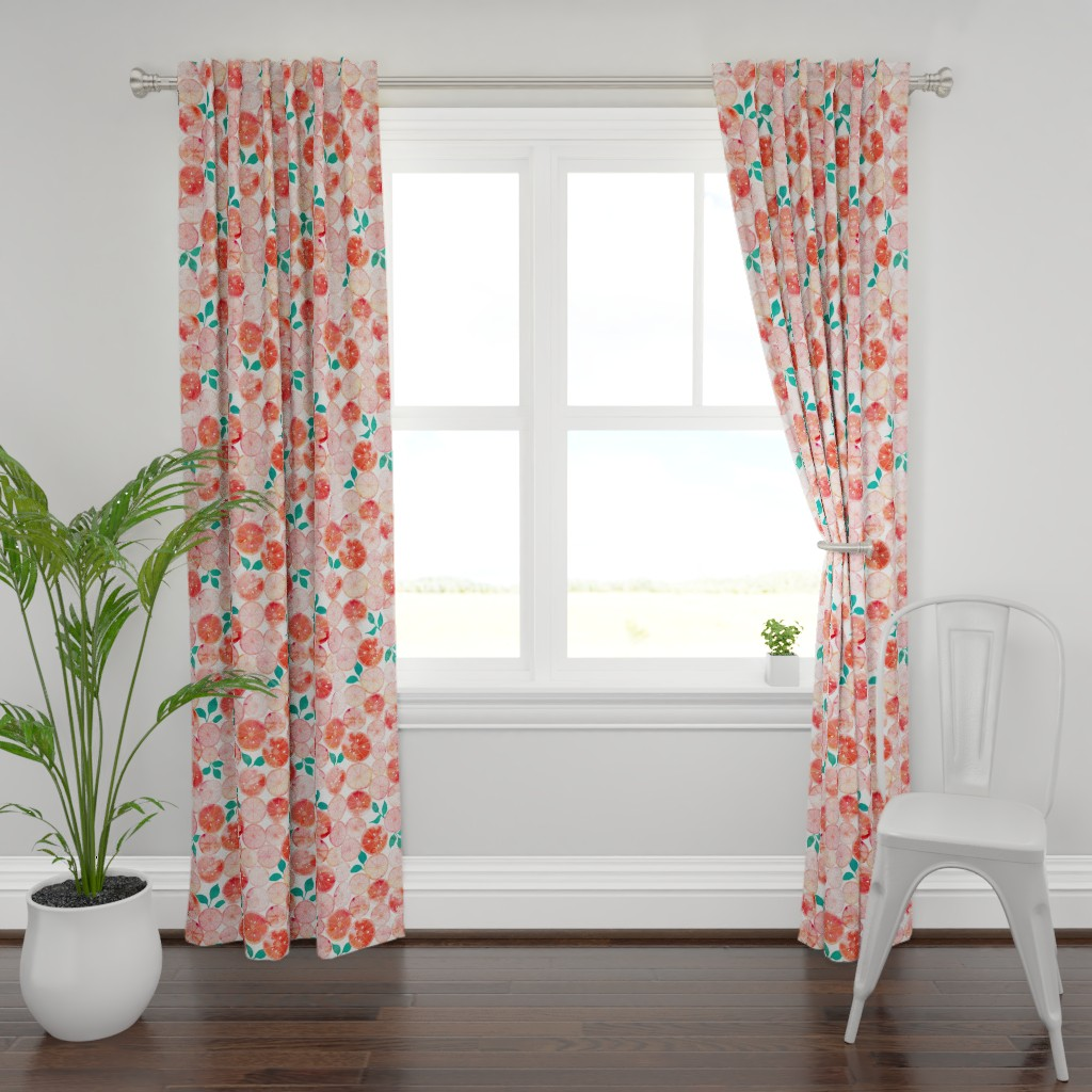 Plymouth Curtain Panel featuring Summer fruit by adenaj