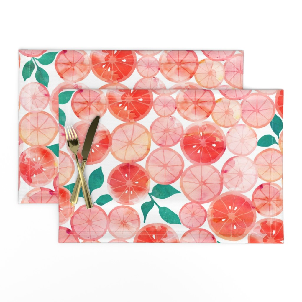 Lamona Cloth Placemats featuring Summer fruit by adenaj