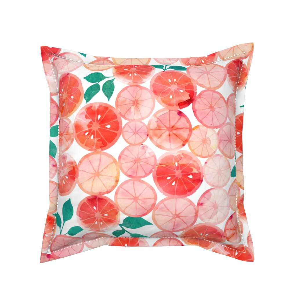 Serama Throw Pillow featuring Summer fruit by adenaj