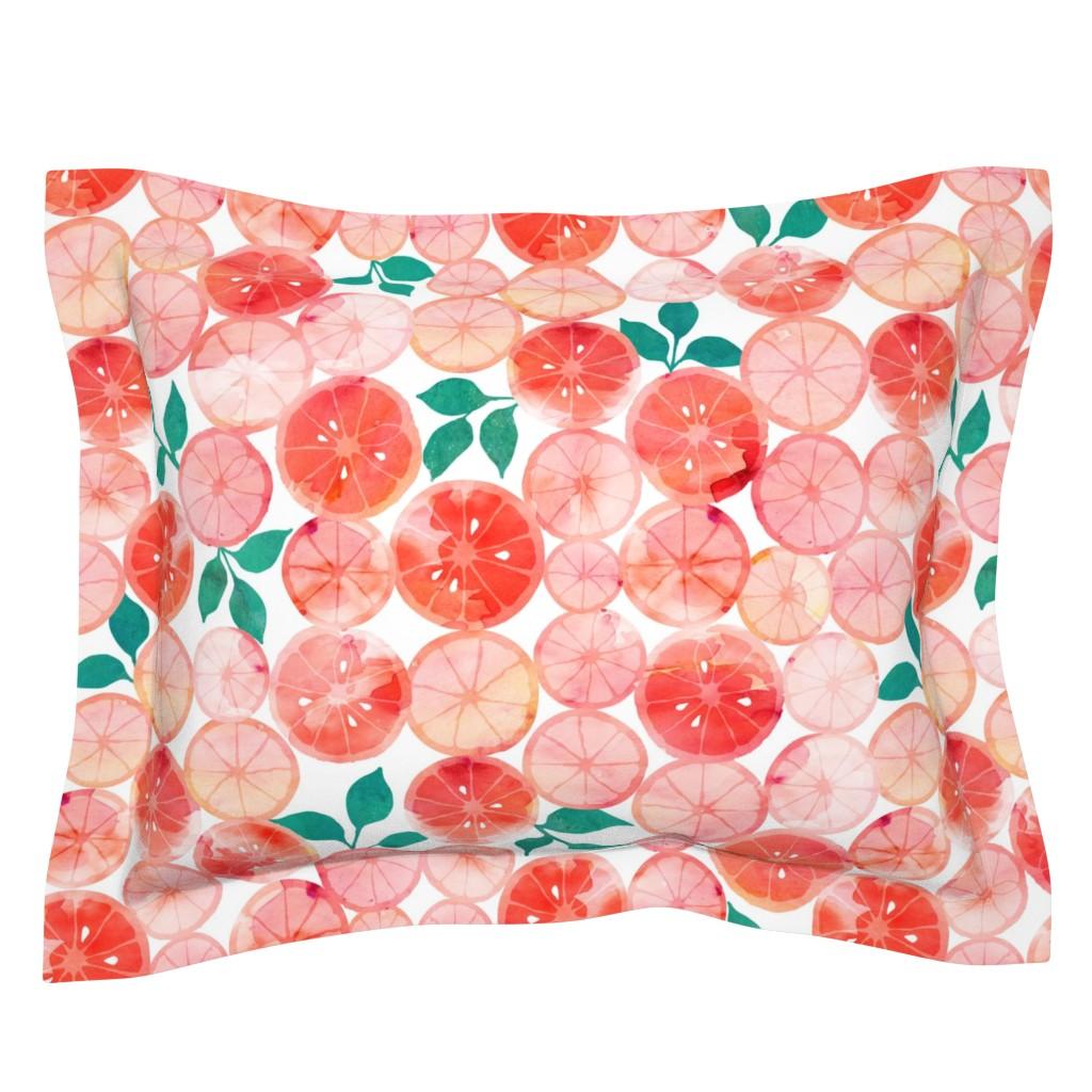 Sebright Pillow Sham featuring Summer fruit by adenaj
