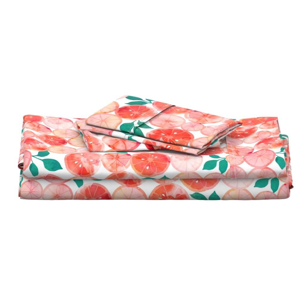 Langshan Full Bed Set featuring Summer fruit by adenaj