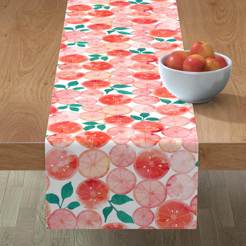 Minorca Table Runner featuring Summer fruit by adenaj